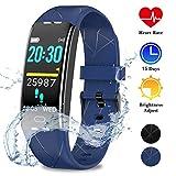 WOWGO Montre Cardiofréquencemètre,Tracker d'Activité avec Moniteur de Sommeil,Réveil,Notifications,Bluetooth Podomètre...