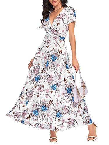 HUHOT Women's Summer Empire Waist Maxi Bridal Shower Dresses Long...