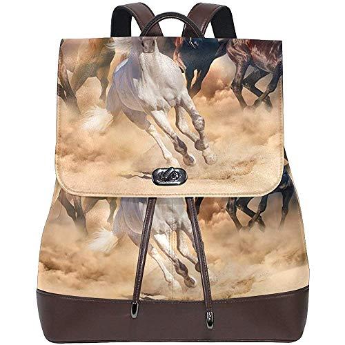 KEIOA women backpacks Zaino in pelle PU per cavalli Foto Borsa a tracolla personalizzata Borsa per libri universitari Zaino Borsa per pannolini casual per donna e ragazza