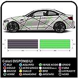 Pagatina universales para automóviles modernos para todos los automóviles Líneas adhesivas calcomanías de ajuste de carreras decoración de automóviles con líneas de dos tonos (AMARYLLO Y AZUL)