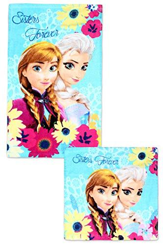 Disney Frozen Eiskönigin Handtuch und Waschlappen Set