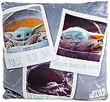 Disney Star Wars The Mandalorian Baby Yoda The Child Squishy Plush Throw Pillow - 12x12 inches