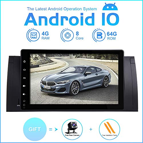 Freeauto Android 9.0 Autoradio per BMW E39 In-dash 9 Car Stereo 4-Core Car Radio Car Multimedia Navigazione GPS con 1080P Touch Screen