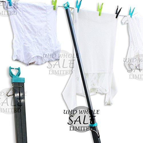 FB FunkyBuys® 2.5M Telescopische kledinglijn Prop Heavy Duty Waslijn Paal
