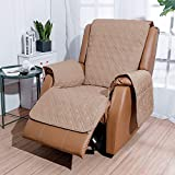 Recliner Chair Cover with Pockets Waterproof - RBSC Home Soft Lazy Boy Chair Covers for Pets Baby Dogs Cats Washable Multiple Choice