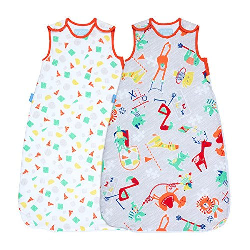The Gro Company Childs Play Twin Wash And Wear Grobag, 6-18 Months, 2.5 Tog , Pack Of 2