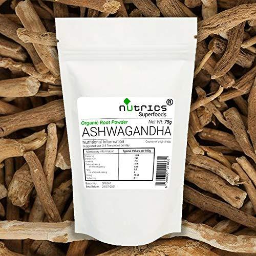 Nutrics® Biologisch 100% Pure ASHWAGANDHA Root Poeder 1000g/1KG Superfood Indian Ginseng - Nutrics Superfoods