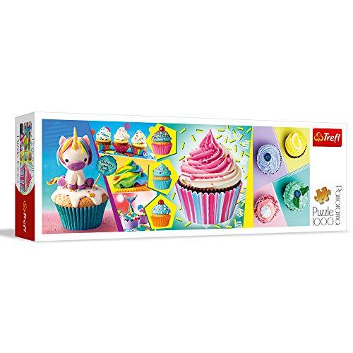 Trefl Puzzle Panorama (1000 Piezas), diseño de Cupcakes, Multicolor (29045)
