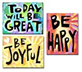 Classroom Inspiring Quote Posters (set of 3-8.5'x11') Positive Colorful Bulletin Board Art Prints