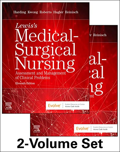 Compare Textbook Prices for Lewis's Medical-Surgical Nursing - 2-Volume Set: Assessment and Management of Clinical Problems 11 Edition ISBN 9780323552004 by Harding PhD  RN  FAADN  CNE, Mariann M.,Kwong DNP  MPH  RN  ANP-BC  FAAN  FAANP, Jeffrey,Roberts RN  MSN  MACI  CMSRN  OCNS-C  CNE, Dottie,Hagler PhD  RN  ACNS-BC  CNE  CHSE  ANEF  FAAN, Debra,Reinisch RN  DNP  FNP-BC, Courtney