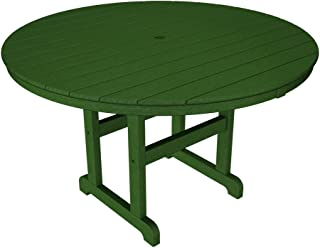 POLYWOOD RT248GR Round Dining Table, 48-Inch, Green