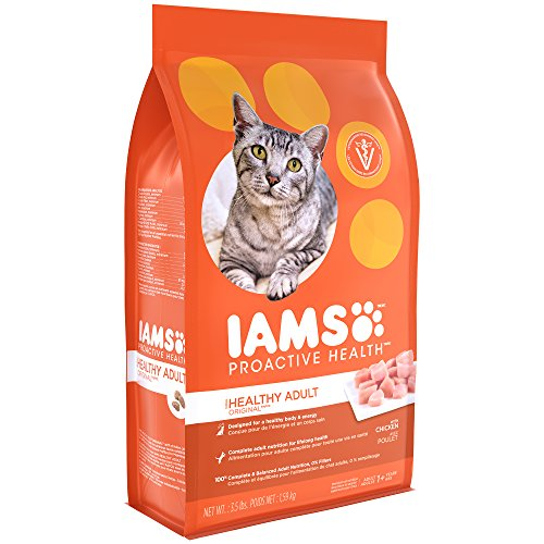 Price comparison product image Iams Dry Food Proactive Health Adult Original with Chicken Dry Cat Food,  3.5 Pound
