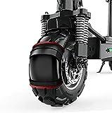 Pequeño vehículos todoterreno Ciclomotor adulto dos neumáticos 11 pulgadas de vacío de plegado de la bicicleta pedal de la bicicleta eléctrica, color: un mango de cristal líquido / 48V / 10.0AH