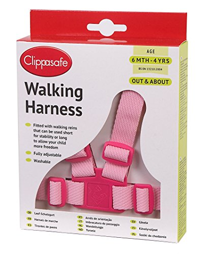 Clippasafe Walking Harness and Reins (Pink)