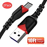 Micro USB Cable 10ft,Long Android Charger Cable CyvenSmart 2 Pack 10FT Nylon Braided Long Micro USB Cable High Speed Data and Charging for Samsung Galaxy S7 Edge S6 S5,Note 5 4,LG G4 and More