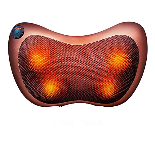 ZUEN Massagekissen Elektrisches Nackenmassagegerät Multifunktions Schulter Infrarot Heizung Magnetfeldtherapie Entspannungsmassagegerät