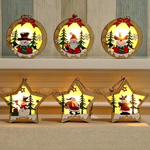 Kerstversiering voor kinderen, Kerstversieringen Lantaarn LED-verlichting Binnen Buiten Hanglamp Vuurloze Kaarsen Lamp Warm wit Xmas Handgemaakte Kit