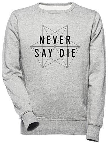 Dubstep Never Say Die Unisex Herren Damen Sweatshirt Grau Unisex Men's Women's Jumper