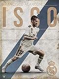 Grupo Erik Print Real Madrid ISCO, Multicolor, 30x40 cm