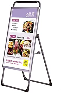 Strong Sturdy Floor-Standing Poster Stand Aluminum Poster Frame, Sign Shelf, Poster Board, Display Stand, Adjustable Base ...