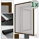 SETS ECONÓMICOS Mosquitera para ventanas Confort con marco de aluminio - No es necesario perforar o atornillar (Colores y tamaños a elegir), Color:Marrón, Talla:100 x 120 cm, Cantidad:Einzeln
