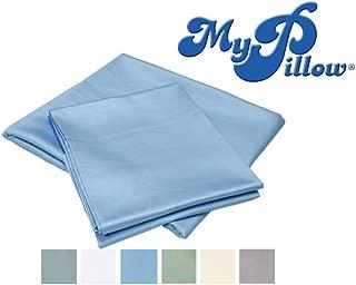 MyPillow Bed Sheet Set 100% Certified Giza Egyptian Long Staple Cotton (Queen, Light Blue)