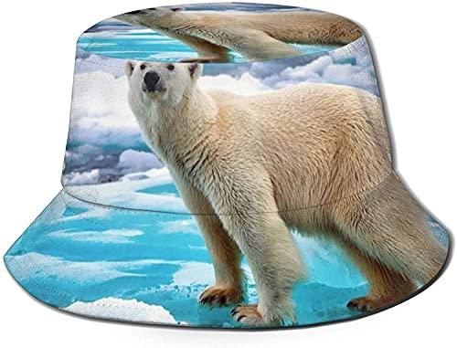KEROTA Sombrero de pescador con estampado de hielo para exteriores, protección solar para pesca, unisex, color negro, 7-7 1/8