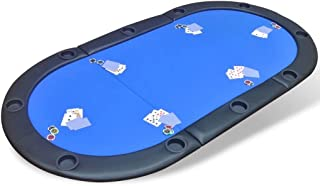 10-Player Fold-able Poker Tabletop - Blue