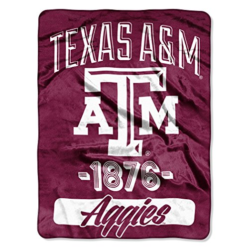 Northwest Officially Licensed NCAA Texas A&M Aggies Varsity Micro Raschel Throw Blanket, 46