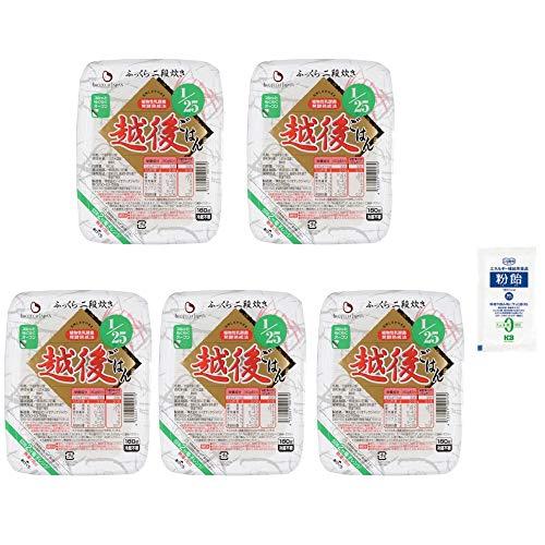 【5個セット+粉飴サンプル付】バイオテックジャパン たんぱく質1/25 越後ごはん 180g【カロリー調整に便利な粉飴サンプル付】