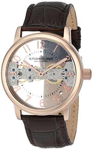 Stuhrling Original Legacy 680 Men's Mechanical Watch with Rose Gold Dial...