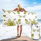 mengmeng Persa floral - verde toalla de secado rápido para deportes, gimnasio, viajes, yoga, camping, natación, súper absorbente, compacta, ligera, toalla de playa