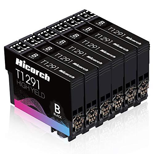 Hicorch T1291 Multipack Ersatz für Epson T1291 Tintenpatronen Schwarz Kompatibel mit Epson Workforce WF-3520 WF-3540 WF-7515 WF-7525 Stylus SX235W SX420W SX425W SX435W SX525WD SX535WD BX305FW