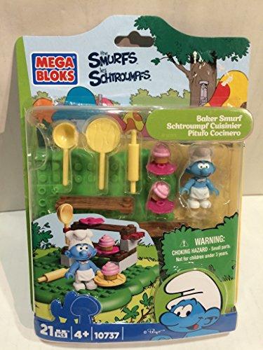 Mega Bloks 10737 - Puffo Cuoco (Baker Smurf) - 21 Pezzi e accessori
