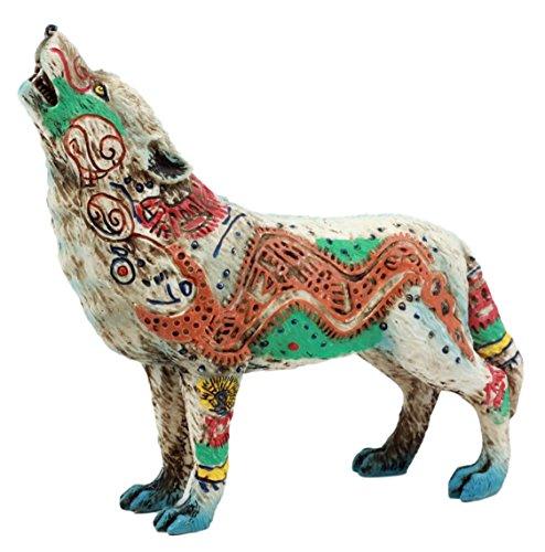 Ebros Gift Native Tribal Howling Wolf Totem Spirit Figurine Collection 6.25' L (Aztec Nahuatl Anaconda)
