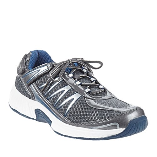 Orthofeet Proven Plantar Fasciitis and Foot Pain Relief. Arthritis Diabetic Shoes. Extended Widths. Best Orthopedic Men's Sneakers Sprint Grey