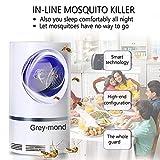 Grey-mond Lámpara Antimosquitos – 5W Trampas para Insectos Matamoscas/Mata Mosquitos Eléctrico para Proteger a los niños, Mata Insectos con 368NM Luz Ultravioleta USB LED, Sin Productos Químicos