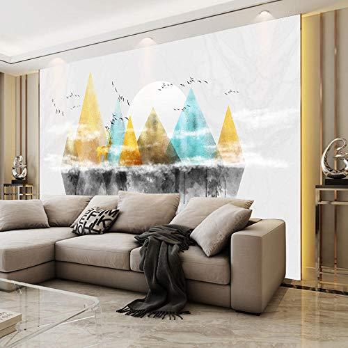 RTYUIHN 3D tapete wandbild Holz elch 3D dreidimensionale Moderne minimalistische Wohnzimmer Schlafzimmer Kunst Schlafzimmer Wohnzimmer Moderne wandkunst Dekoration