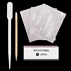 The SENSATIONAIL gel polish removal kit is a unique, handy way to remove gel polish without all the hassle. Simply buff and wrap Use: First file away all of the top shiny layer of polish, being careful not to go down to the natural nail Tear open the...