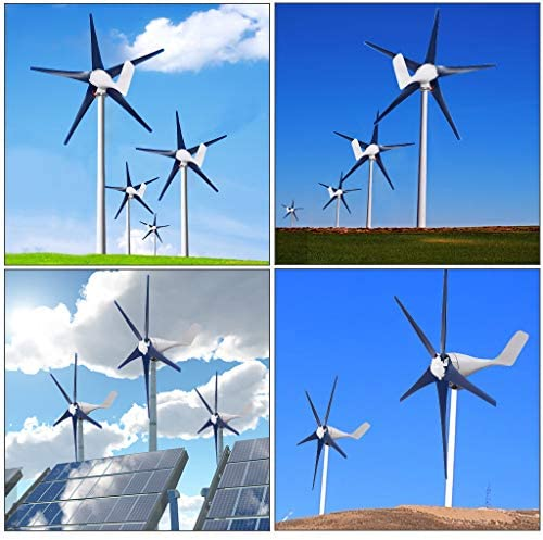 ZIWEIXING Wind Turbines Generator Horizontal Wind Generator 1500W 5 Blades 12V Windmill Energy product image
