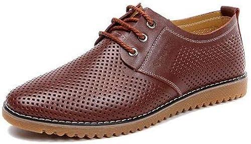 Jiang-ZX Chaussures pour Homme , décontracté décontracté Chaussures pour Homme, Chaussures pour Homme, Grande Taille, Chaussures de Mode, Marron, 44  pratique