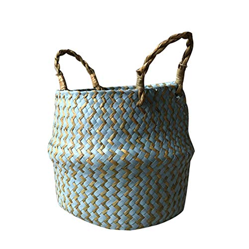 XdiseD9Xsmao handgemaakt golfdesign van rotan seagrass kleding opbergmand tas huis tuin bloem bloempot picknickmand Rosa Roja