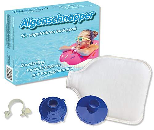 Algenschnapper Filtro aggiuntivo per Piscine-Starter Set 2020, novità Mondiale, Bianco