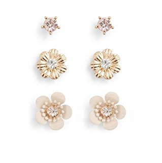Aldo Earrings Set for Women, Multi Stones - 5646514