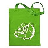 Kiwistar Bulldogs Symbole - Chien de Combat Sac de Jute - imprimé Proverbes Motifs de énonciations Sac en Coton Sac à provisions de Remise en Forme à l'école Suspendu sur Une Longue poignée