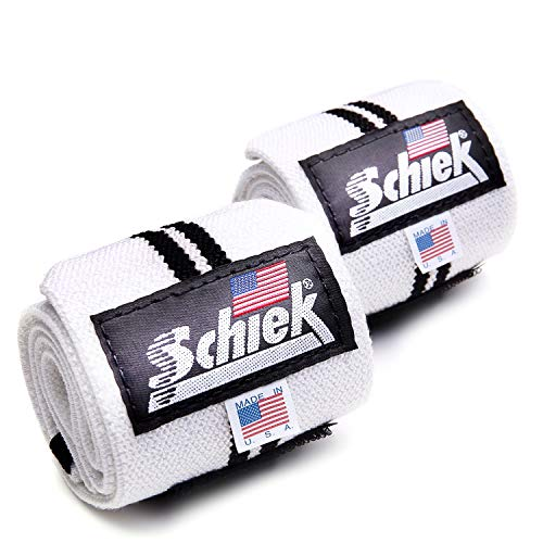 Schiek シーク リストラップ 24インチ フリーウェイトトレーニング用 ホワイト (国内正規品)