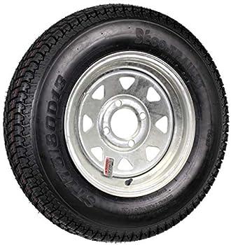 Trailer Tire On Rim ST175/80D13 175/80 D 13 Load C 4 Lug Galvanized Spoke Wheel