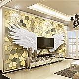 Zybnb Foto Tapeten 3D Relief Engelsflügel Mosaik Wandbild Malerei Luxus Wohnzimmer Tv Hintergrund Home Decor Tapete