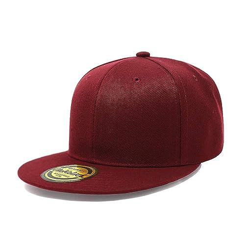 Flat Visor Snapback Hat Blank Cap Baseball Cap - 14 Colors 14dbee6fd60