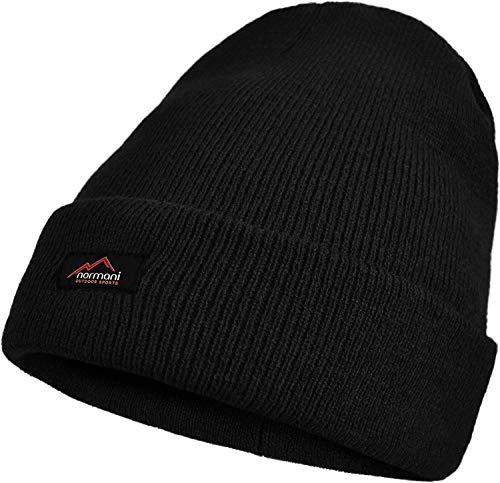normani Herren Wintermütze Skimütze mit Thinsulatefütterung extra warm Farbe Schwarz1